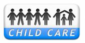 picture of babysitting  - child care in daycare by nanny or au pair parenting or babysitting children protection against abuse  - JPG