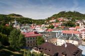 picture of banska  - view over banska stiavnica slovakia  - JPG