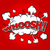 Whoosh !- Comic Speech Bubble, Cartoon.