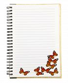 Notebook With Butterfly