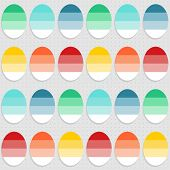 colorful dyed eggs on gray Easter time seamless pattern