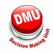 pic of gatekeeper  - 3d illustration of dmu decision making unit button isolated white background - JPG