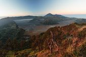 image of bromo  - Panoramic view of Bromo volcano in the morning - JPG
