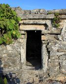 Entrance to the ancient Mayan house