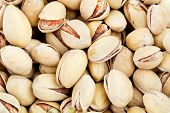 Close up of the pistachios