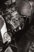 A flathead Ford hot rod engine