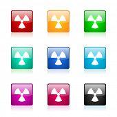 radiation web icons set