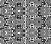 Set of Two Abstract Seamless Patterns. Rasterized Version