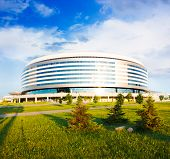 stock photo of hockey arena  - Minsk Arena in Belarus - JPG