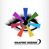 Graphic design color wheel - eye