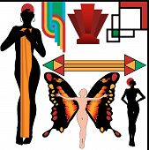 Art Deco People Poses And Design Elements