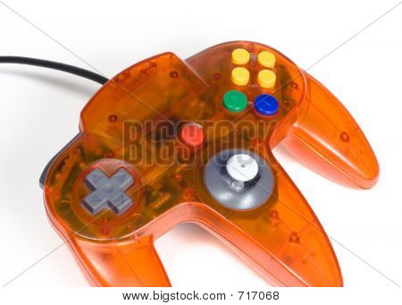 poster of Orange Game Controller Close-up