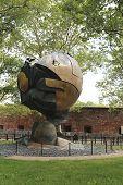 World Trade Center Sphere damaged at September 11 in Battery Park