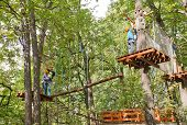 Ropes Courses In Fili Park, Moscow