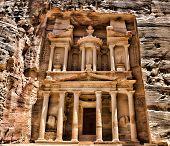 image of petra jordan  - Al Khazneh in Petra - JPG