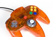 Orange Game Controller Close-up poster
