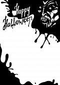 Halloween Vampire greeting card