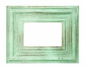 Vintage Style Green Colored Frame Isolated On White