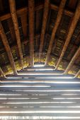 pic of barn house  - Inside an old wooden barn house - JPG