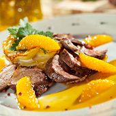 picture of duck breast  - Duck Breast with Orange and Potato - JPG