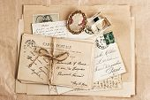 Old French Post Cards And Accessory