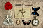 Nostalgic Romantic Grungy Background Scrapbooking