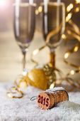 stock photo of champagne color  - New Year - JPG