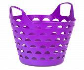 Purple Color Plastic Basket For Supermarket Shopping Or Laundry
