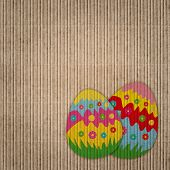 Abstract Background With Easter Eggs Decoration