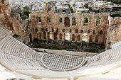 The Odeon Of Herodes Atticus Is A Stone Theatre,acropolis, Athens