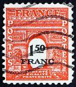 Postage Stamp France 1944 Arc De Triomphe, Paris
