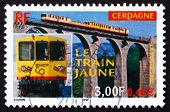 Postage Stamp France 2000 Yellow Train Of Cerdagne