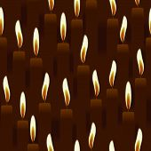 seamless burning candle, church background