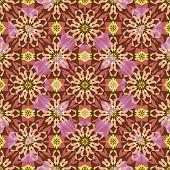 Seamless background oriental ornament kaleidoscope