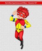 Illustration of a male superhero wearing a mask
