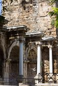 View Of Hadrian's Gate In Old City Of Antalya