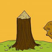 Tree With Beaver