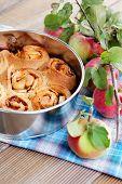 homemade yeast apple cake - sweet food