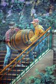 mural tell the story of Quebec city beer delivery