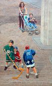 Street art mural tell the story of Quebec city