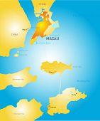 Vector color Macau administrative map