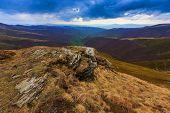 Dramatic landscape in Carpathian mountains, Ukraine