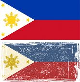 Philippines grunge flag. Vector illustration