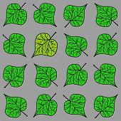 Decorative pattern with leaves