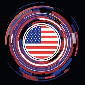 usa flag abstract icon