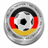 Soccer ball with german flag Champion - in german