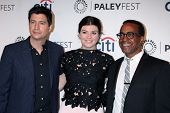 LOS ANGELES - SEP 10:  Ken Marino, Casey Wilson, Tim Meadows at the Paley Center For Media's PaleyFe