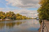 Moskva River Near Fili Park In Moscow, Russia