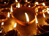 stock photo of pooja  - This is a traditional Indian Diya pooja - JPG