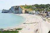Eretrat Resort Town On English Channel Beach